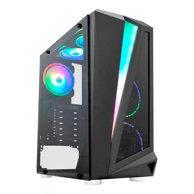 PC Gamer NTC VULCANO II Powered By Asus Intel Core i3-10100, 16GB RAM, SSD 480GB, RGB, Linux, Preto - 7173