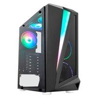 Computador Gamer NTC Powered By Asus Intel Core i5-10400, 16GB RAM, SSD 480GB, RGB, Linux, Preto - Ntc VULCANO II 7176