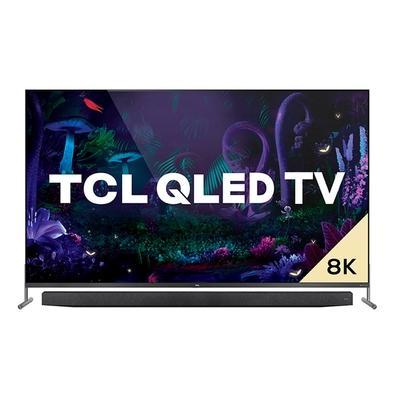 Smart TV TCL 75 8K, HDMI/USB, Wi-fi, QLED, Dolby Vision, Comando de Voz, Google Assistant, Sem Bordas, Preto - X915