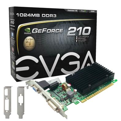 Placa de Vídeo VGA EVGA NVIDIA GeForce GT 210 1GB, DDR3, 64 Bits - 01G-P3-1313-KR