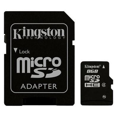 Cartão de Memoria Kingston MicroSDHC 8GB Classe 4 com Adaptador - SDC4/8GB