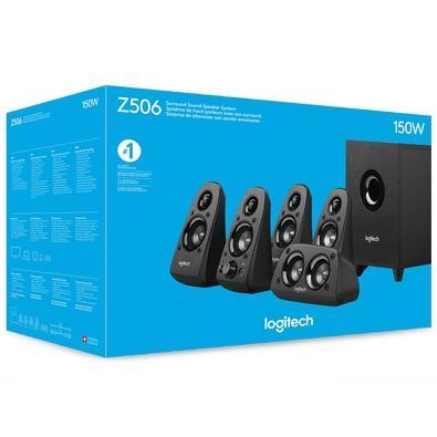 Caixa de Som Logitech Amplificada 5.1 75W RMS Z506 - 980-000430