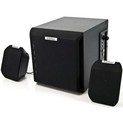 Caixa de som Edifier 2.1 15W RMS X100B - Black