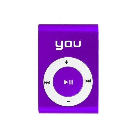 Mp3 Player You Sound Clip Roxo 8gb