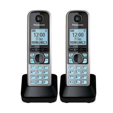 Telefone Sem Fio Panasonic com Backup de Energia e ID - KX-TG6713LBB
