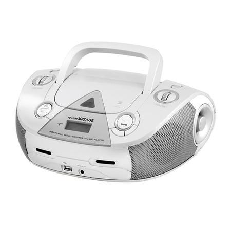 Rádio Portátil Philco - CD, MP3, USB, Aux. e FM 4W RMS Bivolt Branco - PB126BR