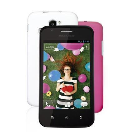 Celular Smartphone Multilaser P3245 Rosa - 1 Chip
