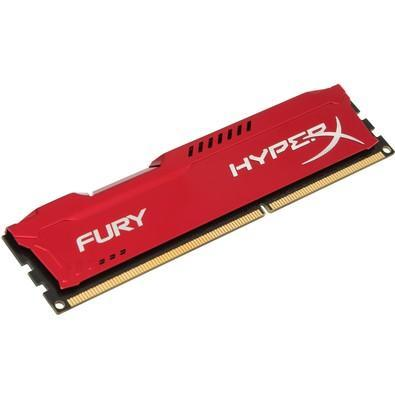 Memória Kingston HyperX FURY 4GB 1866Mhz DDR3 CL10 Red - HX318C10FR/4