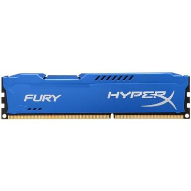 Memória Kingston HyperX FURY 8GB 1600Mhz DDR3 CL10 Blue - HX316C10F/8