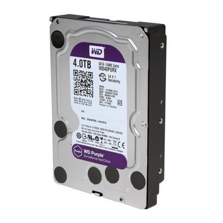 HD WD Purple Surveillance, 4TB, 3.5´, SATA - WD40PURX