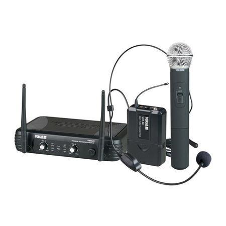 Kit 2 Microfones (mão/cabeça) + Receptor + Transmissor Vwr25 Vokal