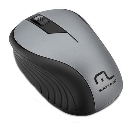Mouse Sem Fio Multilaser 1200DPI Preto e Grafite - MO213