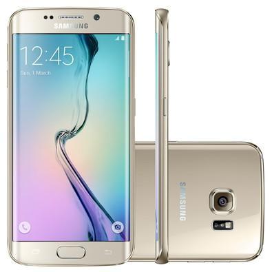 Smartphone Samsung Galaxy S6 Edge, 32GB, 16MP, Tela 5.1´, Dourado - G925I