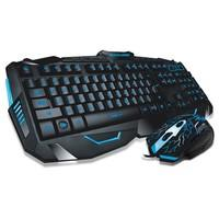 Teclado e Mouse Gamer Multilaser Lightning ABNT2 Preto com LED - TC195