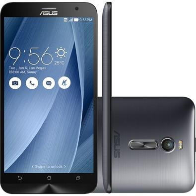 Smartphone Asus Zenfone 2, 32GB, 13MP, Tela 5.5´, Prata - ZE551ML-6J546WW