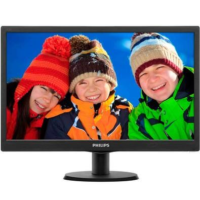 Monitor Philips LED 18.5´ Widescreen, VGA - 193V5LSB2