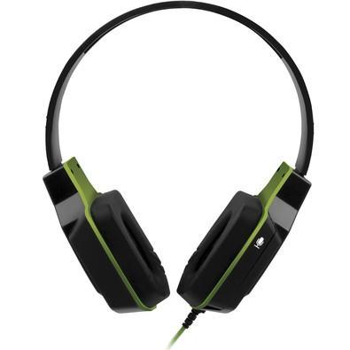 Headset Gamer Multilaser Earpad de Silicone P2 Preto e Verde - PH146