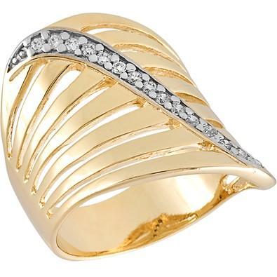 Anel Dourado com Zircônias Tamanho 16 - AN700240F
