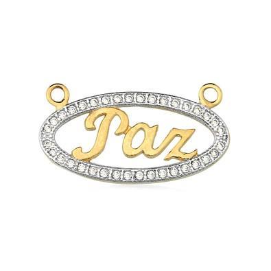 Gargantilha com Pingente Oval Paz - GA083223F