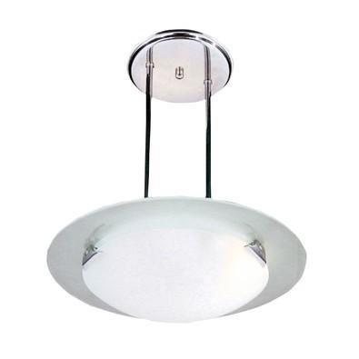 Pendente disco de vidro médio garra vértice Attena- 2802 MED