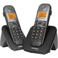 Telefone Intelbras sem fio digital com ramal adicional TS 5122 Preto