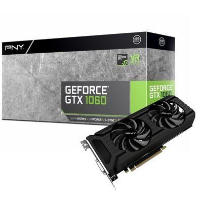 Placa de Vídeo VGA PNY NVIDIA GeForce GTX 1060 6GB, GDDR5, 192Bits, 8000Mhz, DVI, HDMI, DP - VCGGTX10606PB