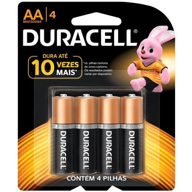 Pilha Duracell Alcalina AAA com 4 Unidades - MN2400B4
