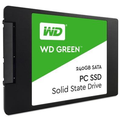 SSD WD Green, 240GB, SATA, Leitura 540MB/s, Gravação 465MB/s - WDS240G1G0A