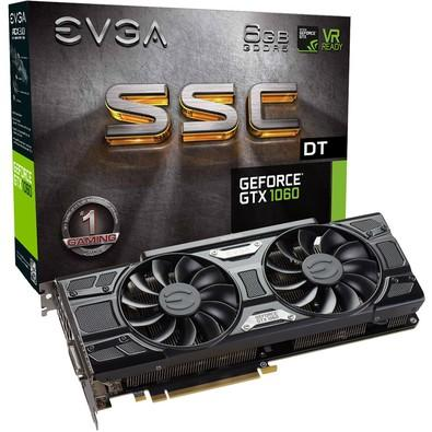 Placa de Vídeo EVGA NVIDIA GeForce GTX 1060 SSC DT Gaming 6GB, GDDR5 - 06G-P4-6265-KR
