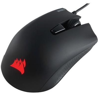Mouse Gamer Corsair 6000DPI RGB 6 Botões Preto Harpoon - CH-9301011