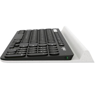 Teclado Logitech K780 Bluetooth Multi-Device Tecnologia Unifying PC/Mac/Chrome OS/Android/iOS Preto US