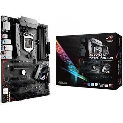 Placa-Mãe ASUS p/ Intel LGA 1151 ATX STRIX Z270H GAMING 4 x DDR4,SLI/CrossFireX, Digi + VRM,1x DVI, 1x HDMI, SupremeFX Shielding,6x SATA 6Gb