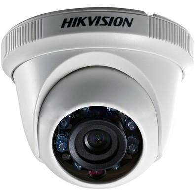 Câmera Hd Hikvision Dome 3,6mm 20mt 1MP 720p Plástica Branca DS-2CE56C0T-IRP