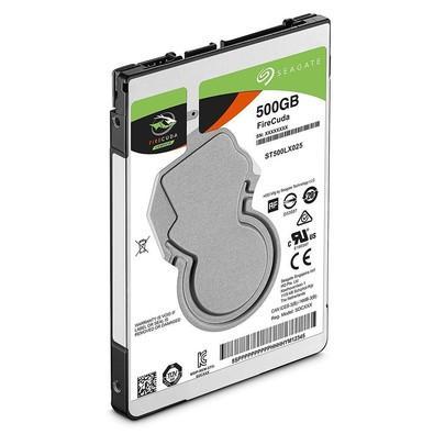 SSHD Seagate SATA 2,5´ p/ Notebook Híbrido (8GB SSD) FireCuda 500GB 5400RPM 128MB Cache SATA 6,0Gb/s - ST500LX025