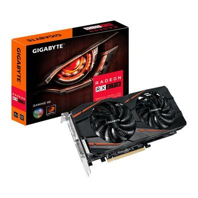 Placa de Vídeo VGA Gigabyte AMD Radeon RX 570 4GB Gaming GDDR5 DVI-D/HDMI/DP - GV-RX570GAMING-4GD
