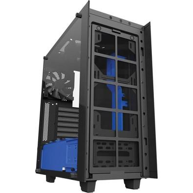 Gabinete NZXT Mid-Tower S340 Elite Preto/Azul Lateral em Vidro Temperado CA-S340W-B5