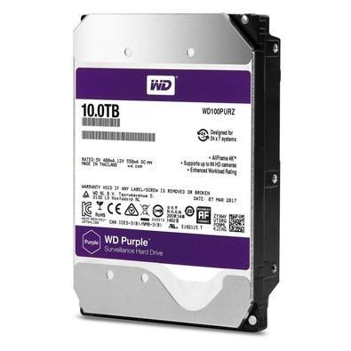 HD WD SATA 3,5´ Purple Surveillance 10TB 5400RPM 256MB Cache SATA 6.0Gb/s - WD100PURZ