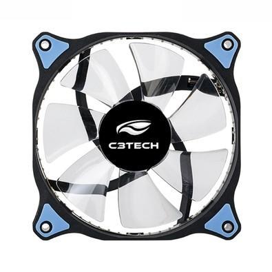 Cooler Fan C3Tech Storm 12cm c/ LED Azul F7-L130BL