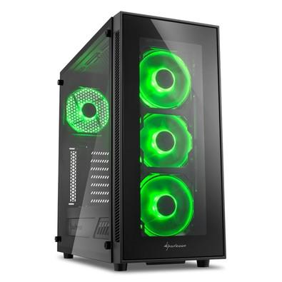 Gabinete Sharkoon TG5 Green Vidro Temperado 4mm Led Fan 12cm ATX