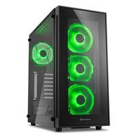 Gabinete Sharkoon TG5 Green Vidro Temperado 4mm Led Fan 12cm ATX