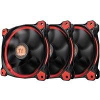 Cooler FAN Thermaltake RIING 12cm LED Radiator Red Pack com 3 CL-F055-PL12RE-A