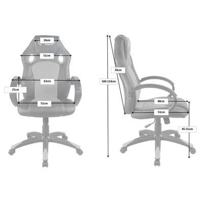 Cadeira Gamer Husky Gaming Snow, Black - HSN-BK