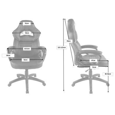 Cadeira Gamer Husky Gaming Frost, Black Orange - HFR-BO