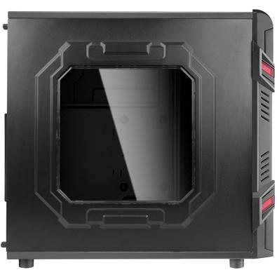 Gabinete Gamer AeroCool  Mid Tower GT Advanced 3.0 Lateral em Acrílico s/ Fonte Preto