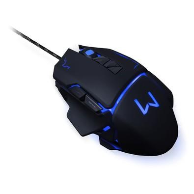 Mouse Gamer Warrior 3200DPI 7 Botões Preto com LED - MO261