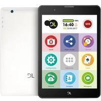 Tablet DL, 7.85´ Tela IPS, 3G, Faz e Recebe Ligações, Quad Core 1.3Ghz, Android 7.0, 8GB, 1GB de memória RAM, Bluetooth, Wi Fi Tab Fácil - TX385BRA Branco