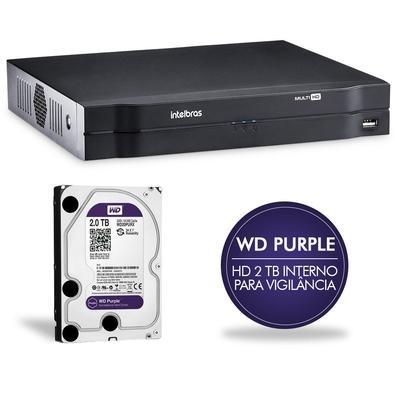 DVR Intelbras Multi HD 08 CH c/ HD 2TB MHDX 1008 4580280
