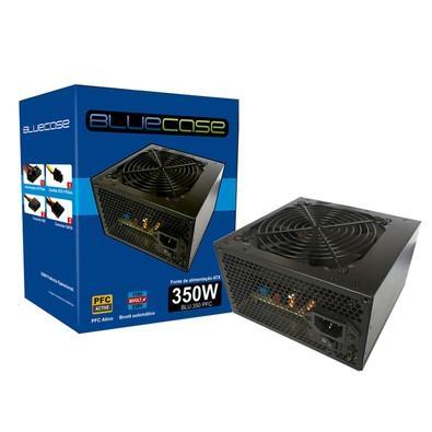 Fonte BlueCase ATX 350W PFC c/ Cabo - BLU350PFC