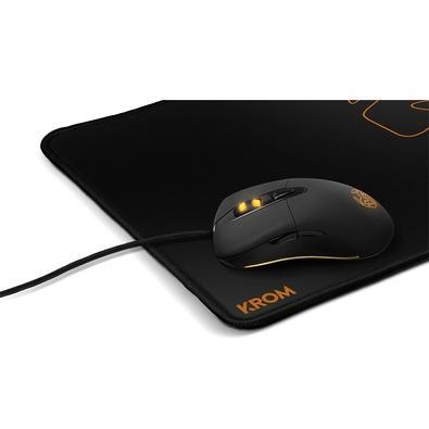 Mousepad Gamer Nox Krom Knout, Speed, Médio (320x270mm) Preto com Costura Preta - NXKROMKNTSPD