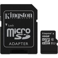Cartão de Memória Kingston Canvas Select MicroSD 16GB  Classe 10 com Adaptador - SDCS/16GB